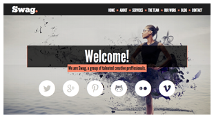 Swag - One Page Parallax WordPress Theme