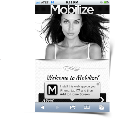 Mobilize - Touch Optimized Mobile Template - 3