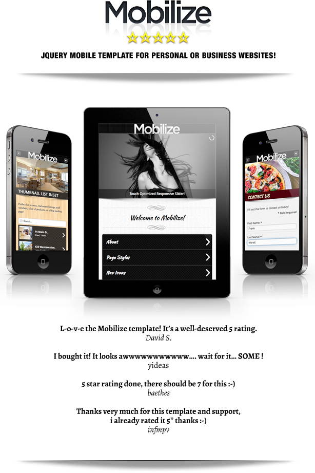 jquerymobile template - mobilize jquery mobile wordpress theme themeforest